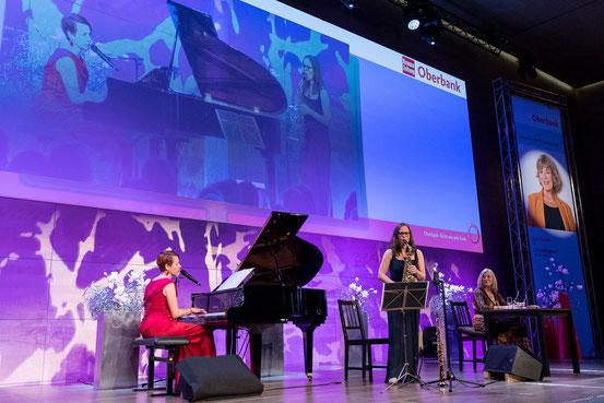 Jutta Speidel & Katrin Weber, Klavier & Viola Falb, Saxophon. Foto: Eric Krügl
