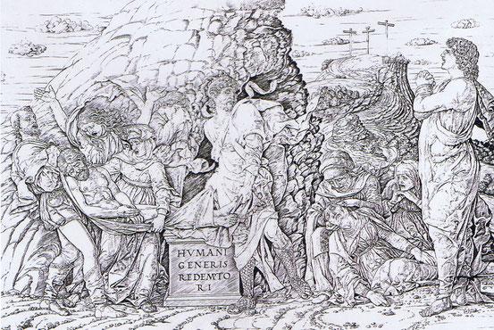 Deposizione di Cristo nel sepolcro, Andrea Mantegna incisore, Chiari (BS), Pinacoteca Repossi.