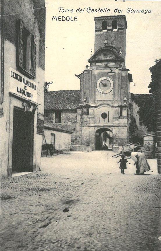 Torre Civica, Veduta dei primi anni del 1900. Da cartolina viaggiata nel 1916.