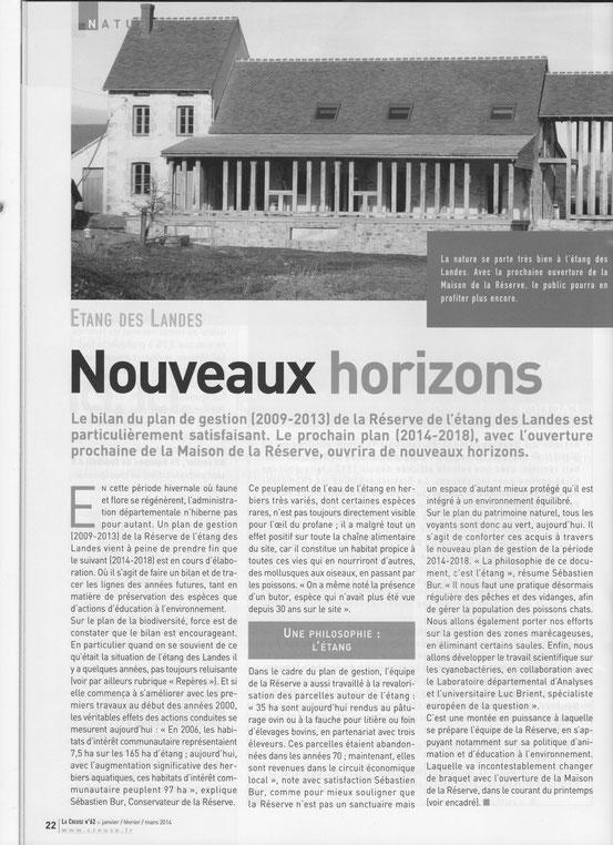 Magazine La Creuse janvier février 2014