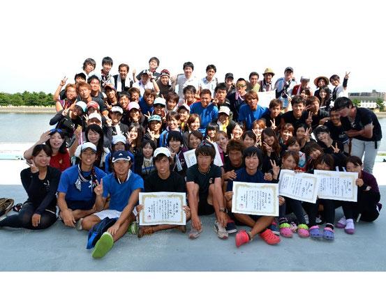 OB現役集合写真 大阪市浜寺漕艇場 2011.08.07