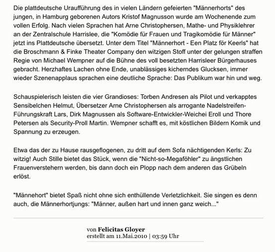aus dem Flensburger Tageblatt