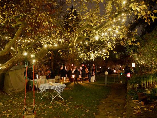 Laternenfest im Garten