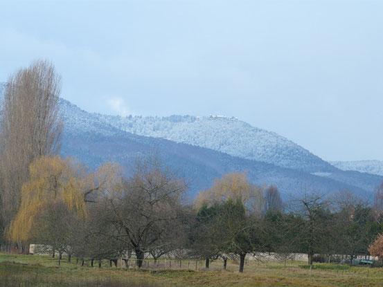 Le mont saint Odile, enneigé
