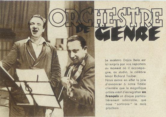 Supplément Odéon - janvier 1934