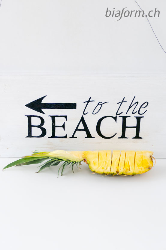 to the beach, diy schild, foodblog schweiz, blog schweiz, schweizer blog