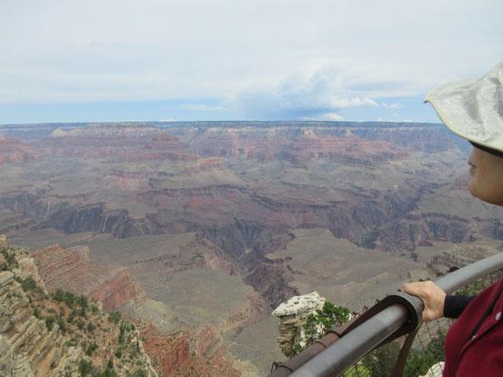 ここ、マーサーポイントから観るグランドキャニオンが有名です。