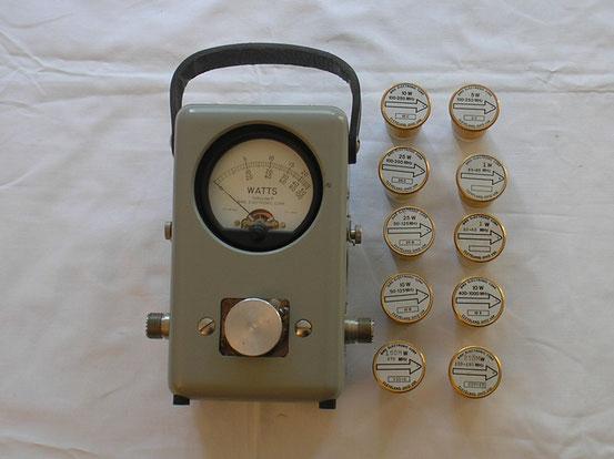 RF Wattmeter der Fa. Bird Cleveland Ohio.  Fertigungsjahr 1970