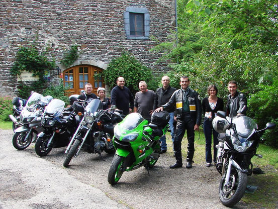 "Motards au ""Moulin du Bateau"""