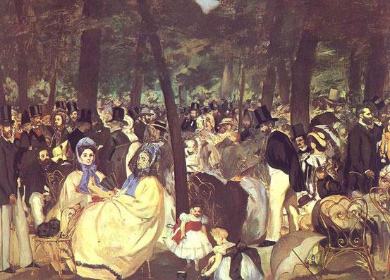 Эдуард Мане. Музыка в Тюильри (1862)