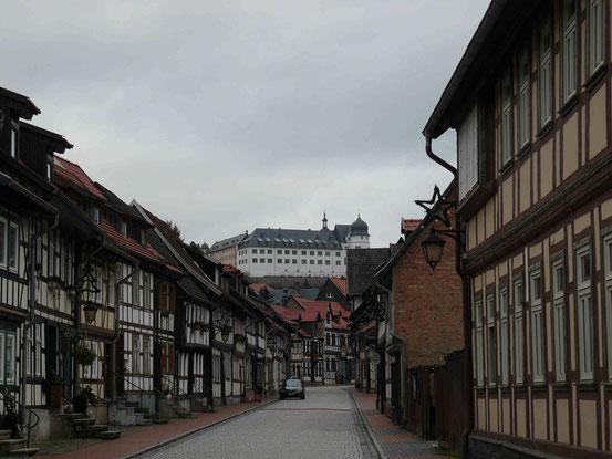 Fachwerk und Schloss in Stolberg