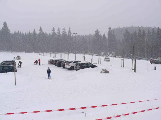 Der neue Hexenritt-Parkplatz in Braunlage/ Wurmberg