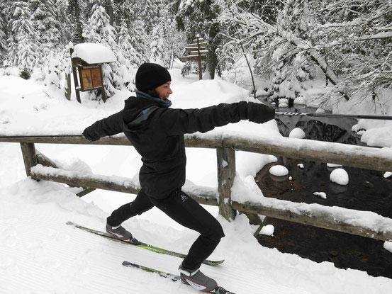 Langlauf und Yoga im Harz