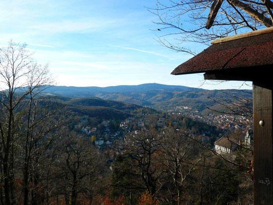 Blick vom Agnesberg/ Wernigerode zum Brocken