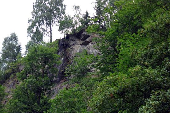 Romkerhaller Wasserfall, Rinnsal