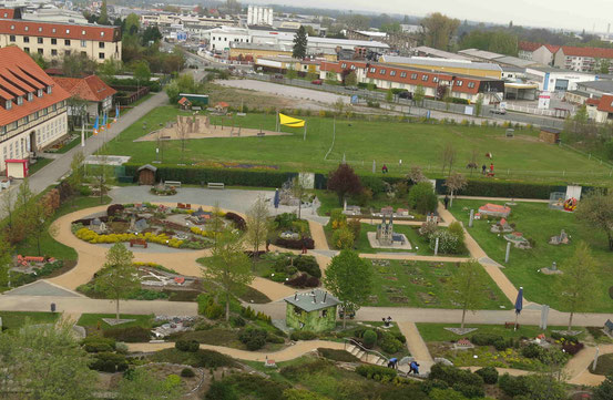 Miniaturenpark von oben