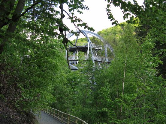 Baumwipfelpfad Bad Harzburg: Der Eingangsturm aus Stahl