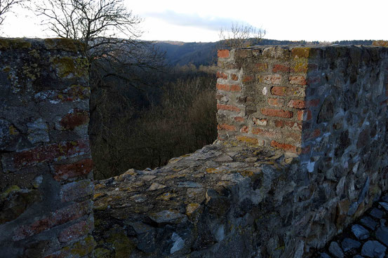 Schießscharte, Burg Falkenstein, Harz