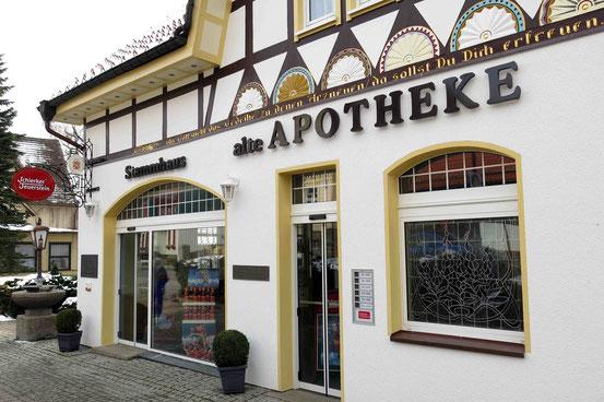 Stammhaus des Schierker Feuerstein in Schierke, aufwändig saniertes Gebäude von 1895, Alte Apotheke