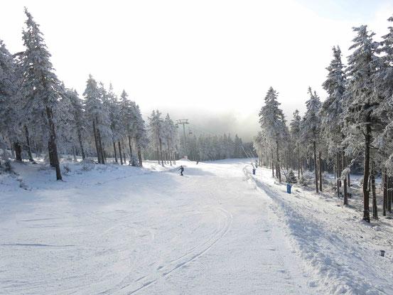Skigebiet Wurmberg: Panorama-Abfahrt oberer Teil