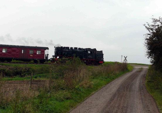 Selketal-Bahn auf dem Selketal-Stieg zwischen Bad Suderode und Quedlinburg