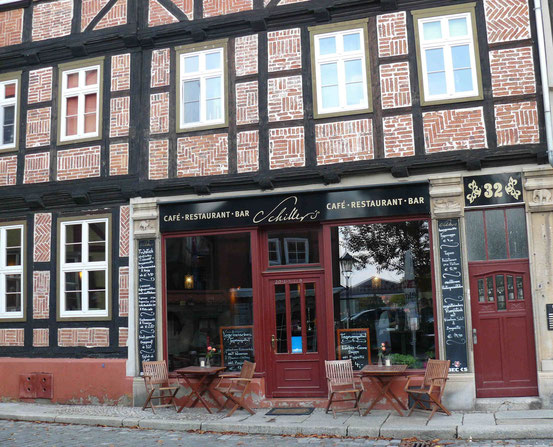 Eingang Restaurant Schiller's in Quedlinburg