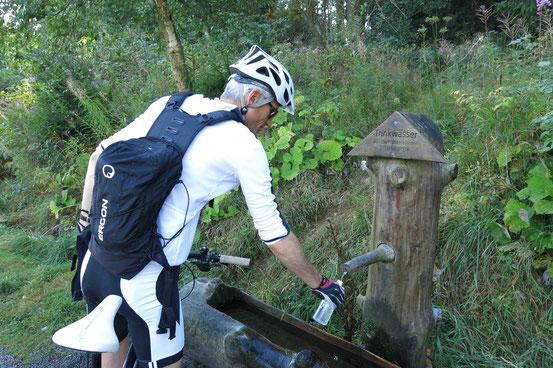 Mountainbike Trinkwasserbrunnen Eckerstausee