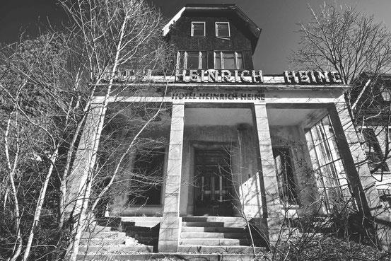 """Ehemaliges Hotel """"Heinrich Heine"""" in Schierke (eröffnet: 1898)"""