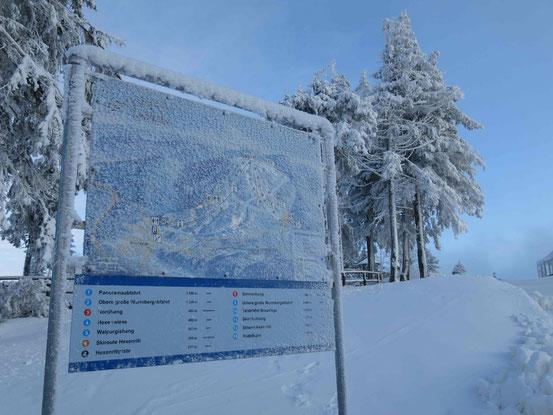 Skigebiet Wurmberg, Gipfel, 971 Höhenmeter