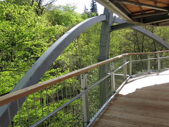 Baumwipfelpfad Bad Harzburg: Innenansicht Eingangsturm mit Weg