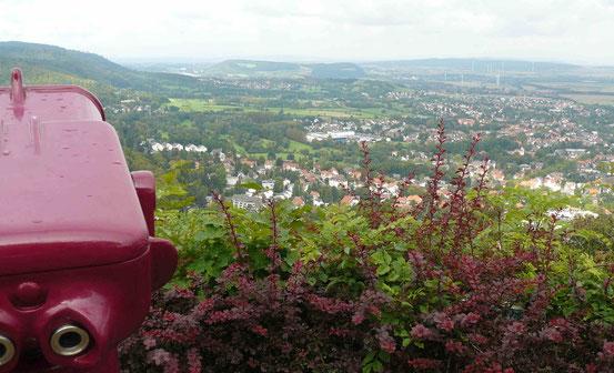 Blick vom Burgberg/ Bad Harzburg ins nördliche Harzvorland