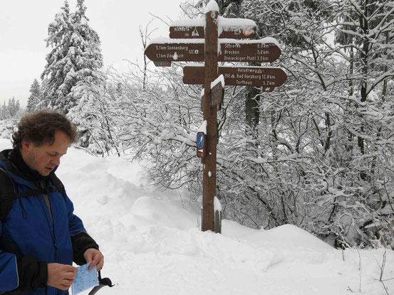 Langlaufen im Harz: Einstieg bei Oderbrück