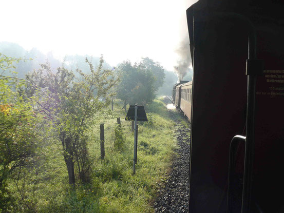 Selketalbahn mit Dampflok auf dem Weg von Gernrode nach Alexisbad