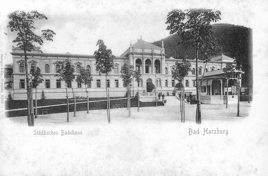 Bad Harzburg. Badehaus um 1900. Heute beherbergt das Gebäude eine Spielbank.