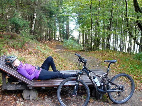 Pause am Himmelsloch/ Platz 4 Besinnungsweg bei Bad Harzburg