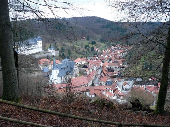 Aussicht auf Stolberg von der Lutherbuche aus