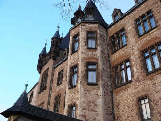 Schloss Wernigerode im Abendlicht