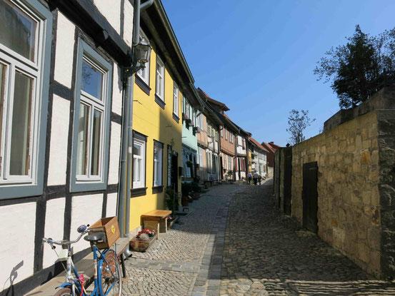 Quedlinburg, Gasse, Fachwerk