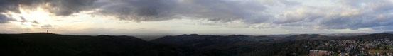 Panorama-Blick vom Teltschik-Turm