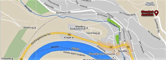 Ausschnitt aus Google Maps - ergänzt