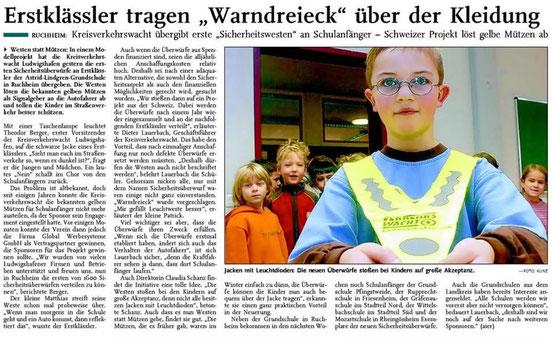 """in der Tageszeitung """"Die Rheinpfalz"""""""