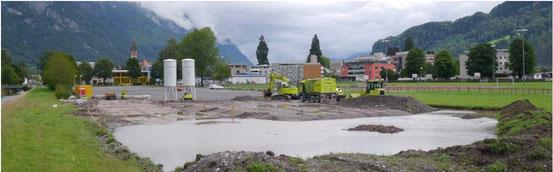 """Baustelle """"unter Wasser"""" Juli 2014"""