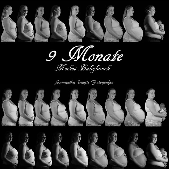 Projekt: 9 Monate Schwangerschaft/ Samantha Baylis Fotografie