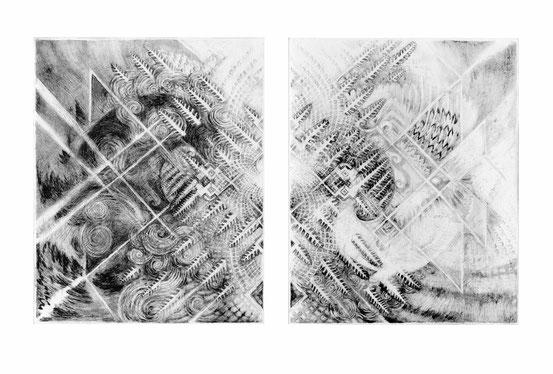 Matthias-Wyss-Kupferstich-Kaltnadel-Copper-Engraving-Drypoint-Cycle-2008–2009-Printing-Plates-20X25-Cm-N°4