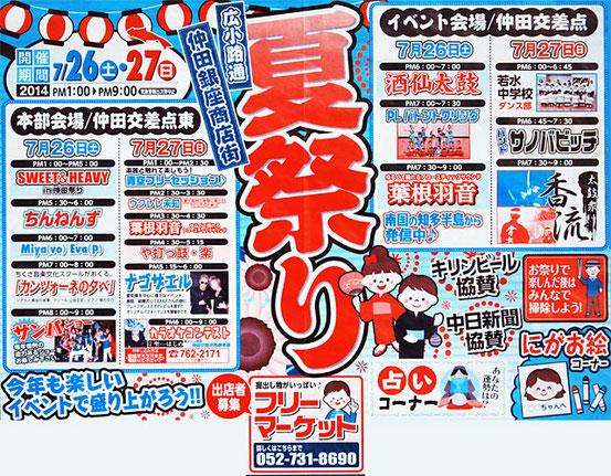 仲田銀座商店街夏祭り2014