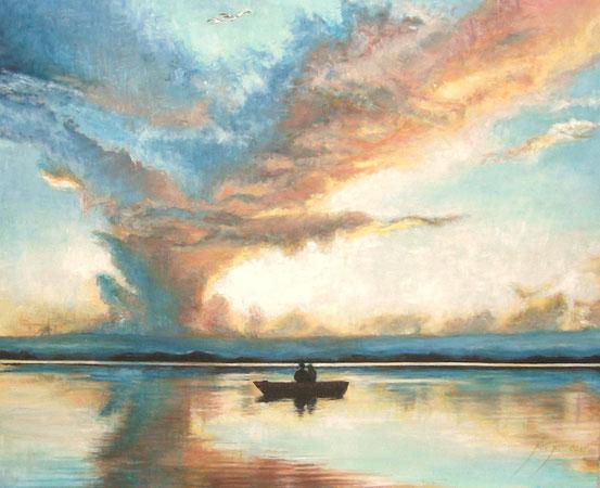 81 x 65 cm al óleo sobre lienzo.