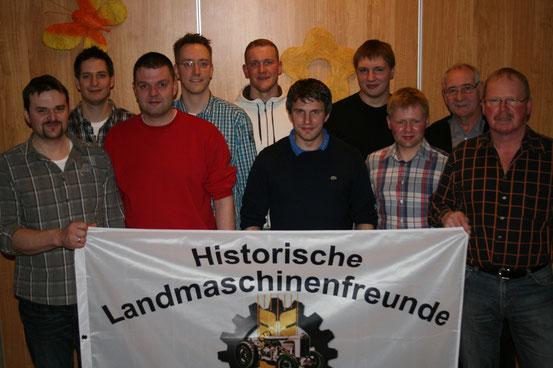 (von links) Jens Ziegenbein, Florian Drewitz, Vorsitzender Jens Halbach, Mark Drewitz, Manuel Friedel, Henrik Talkenberger, Niklas Krannich, Christian Esser, Klaus Burgstaller, Jürgen Schlüter