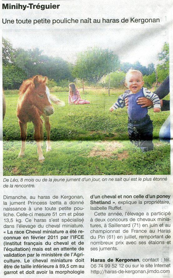 Ouest France le 13 août 2013
