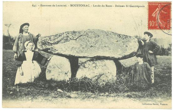 Dolmen- Moustoir Ac- groupe de bretons