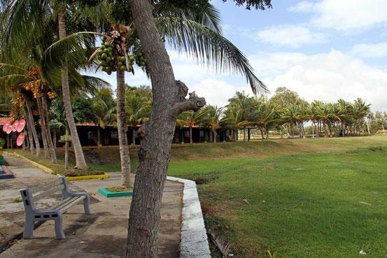 Das Hotel am Nicaraguasee sieht im Grunde nicht schlecht aus